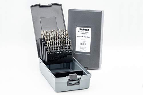 BAER HSSG Bohrer Satz (0,1mm steigend) 1-6 mm - Spiralbohrer DIN 338 | Spiralbohrer-Satz | Bohrer-Set