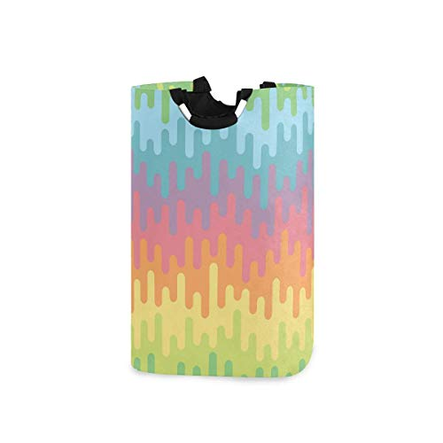 N\A Panier à Linge Colorful Lines | Panier de Rangement avec poignées | Panier de Couverture décoratif pour Salon et buanderie