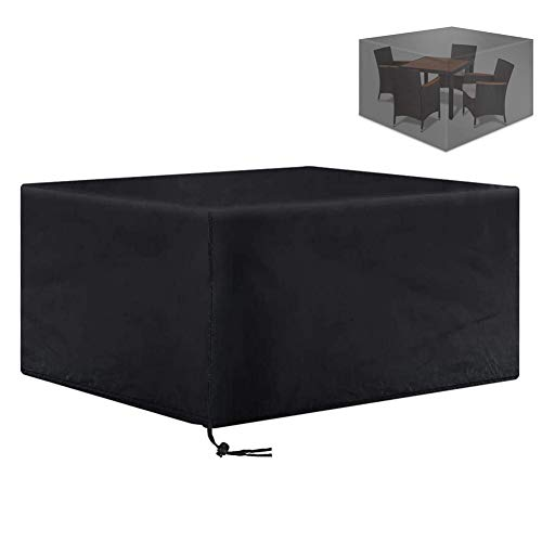 XGG Garden Furniture Covers Waterproof Protective Cover Outdoor Table Covers with Windproof Drawstring Table Chair Sofa Winter Covers, Waterproof Snow Dust Wind Proof, Anti-UV47.25 * 47.25 * 29.13in