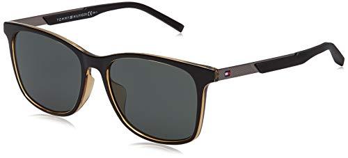 Tommy Hilfiger TH 1679/F/S gafas de sol, BLCK YLLW, 55 para Hombre