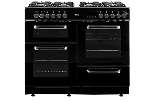 Teknix TKRC100BLK 100cm Dual Fuel Range Cooker - Black
