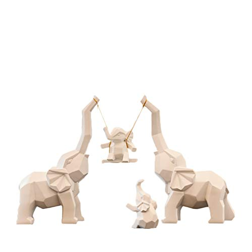 Desktop-Skulptur Eine vierköpfige Familie wie kleine Ornamente, kreative Hauptdekorationen, Hochzeitsgeschenke, Hochzeitsgeschenke, Freunde, Wohnzimmermöbel (Size : LMXLS)
