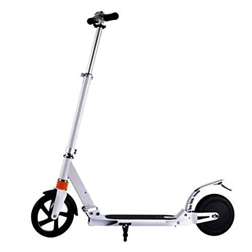XXXD Adulto/juventud Scooters eléctricos, Scooters eléctricos de dos ruedas para satisfacer las necesidades diarias de viaje de corta distancia Scooter blanco