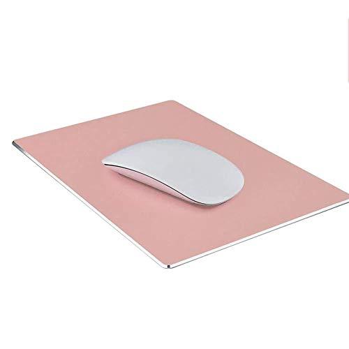 mouse wireless quadrato HOTSO Tappetino Mouse in Metallo Quadrato Superficie Liscio Portatile Mouse Pad per Gaming Ufficio Mousepad in Pelle 22x18cm