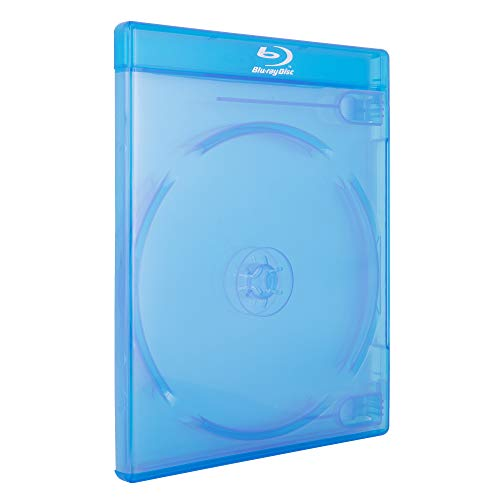 AcePlus Double 2-Disc Blu-Ray Cases with 12mm Standard Thickness, Screen Printed Logo and Clear Wrap Around Sleeve (10-Pack)