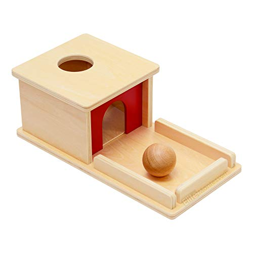 Elite Montessori Object Permanence Box with Tray and Ball