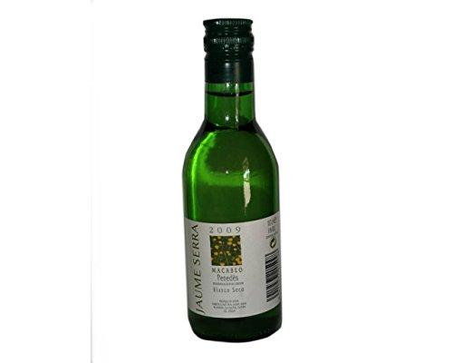 Botellita vino blanco Penedes Jaume Serra(pack 24 unidades) Regalo de invitados de bodas, eventos y comuniones