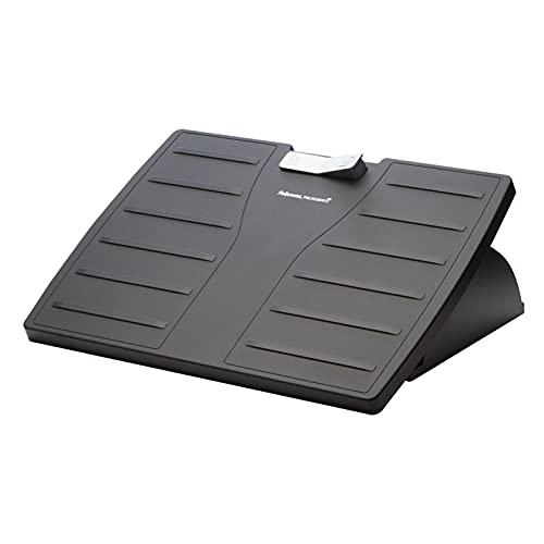 Fellowes - Office Suites - Reposapiés ergonómico ajustable en altura con Protección anti-bacterias Microban - Soporte para apoyo de pies inclinable para oficina y hogar