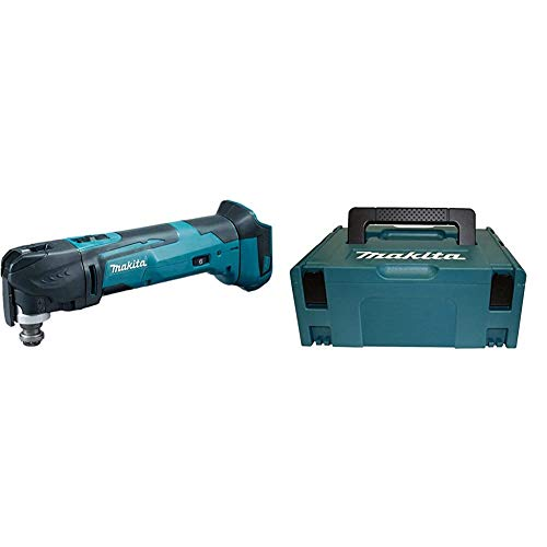 Makita Akku-Multifunktion Werkzeug (ohne Akku/Ladegerät, 390 W, 18 V) DTM51Z + Makita Makpac Größe 2, 821550-0