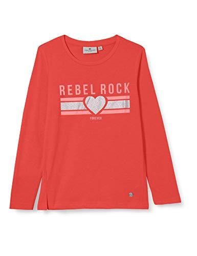 TOM TAILOR Mädchen Langarmshirt T-Shirt, Bittersweet|red, 152