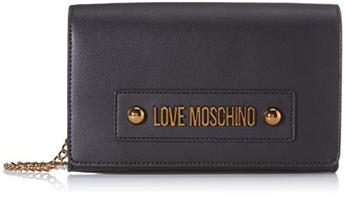 Love Moschino Jc4026pp1a, Borsa a Tracolla Donna, Nero (Nero), 6x14x22...