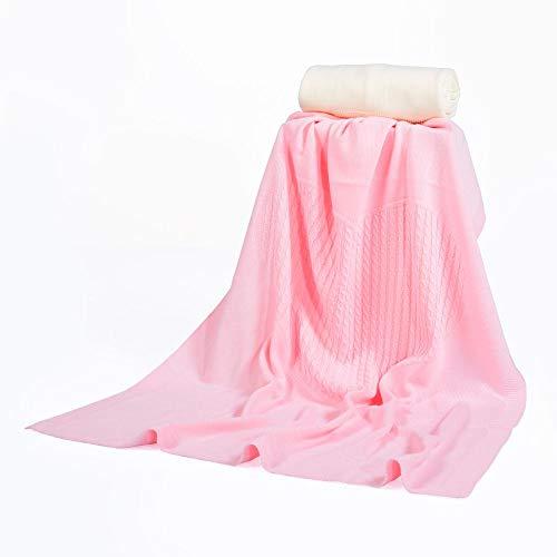 Moni babydeken 340, afmeting 80 x 100 cm zachte babydeken met vlechtpatroon roze