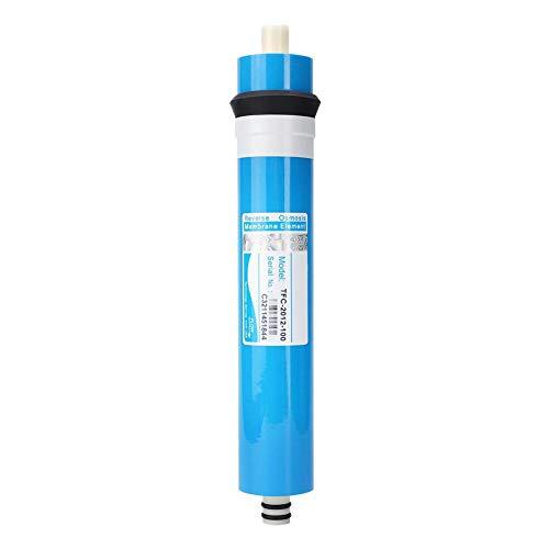 Bicaquu Wasseraufbereitungsfilter 50/75/100 GPD Haushaltsumkehrosmose-Wassersystem Filterbüro für Hauswasserreinheit für Wasseraufbereiter(2012-100G)