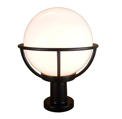 WERCHW Impermeables Accesorios de Pared Exterior Aplique de la luz, lámpara de Pared Exterior de la lámpara, Negro de Metal, Ideal for los del Exterior Patio