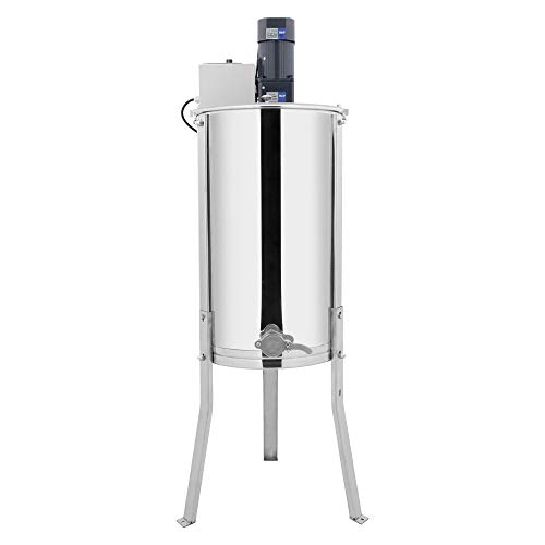 VINGLI Electric 2 Frame Honey Extractor Separator,Food Grade Stainless Steel Honeycomb Spinner Drum with Adjustable Height Stands,Beekeeping Pro Extraction Apiary Centrifuge Equipment