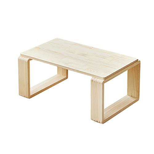 SZQ-Table Basse Petite Table Rectangulaire Simple en Bois Massif Mini Table Basse Salon Balcon Baie Fenêtre Chambre Lit Table À Thé Table de Sofa (Size : 60 * 37 * 26CM)