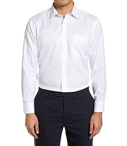 Camisa Social Manga Longa 100% Microfibra Masculina Branca