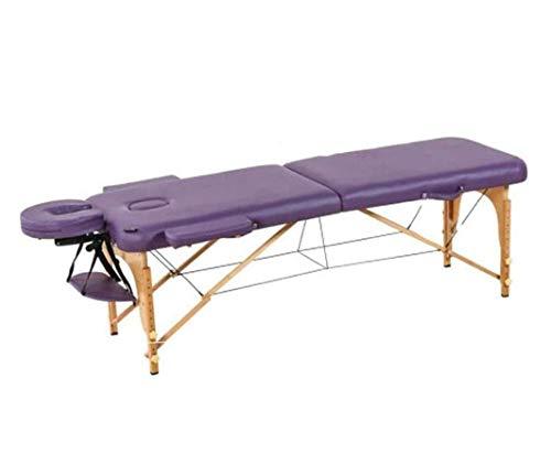 ZOUSHUAIDEDIAN Mesa de Masaje portátil, Cama Plegable Ajustable Profesional, reposacabezas ergonómicos de Marco, para Terapia Tatuaje Salón SPA Tratamiento Facial, púrpura