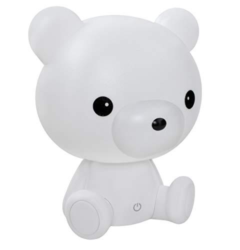 MALATEC Kinderlampe Nachtlicht für Kinder mit Lichtintensitätsregelung Einschlafhilfe Hase /Teddybär 7881, Muster:Bärchen