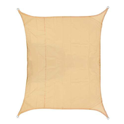 Xhtoe Shade Sails420D - Toldo impermeable de poliéster Oxford para coche, toldo para exteriores, protección de plantas, toldo (tamaño: 2 x 3 m), color beige