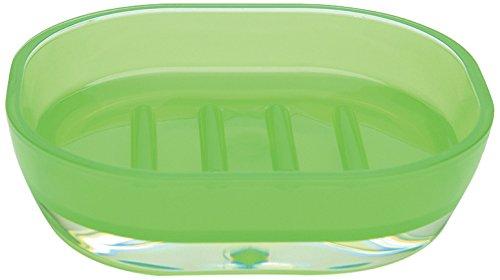 Excelsa Linea Bagno Portasapone, Verde, 15.7 x 11 x 4 cm