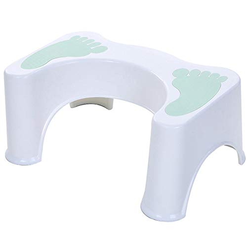 YAYGODトイレ踏み台 ステップ 子供 トイレトレーニング 便座 補助台 キッチン第二代 高さ約21cm … (緑足跡)