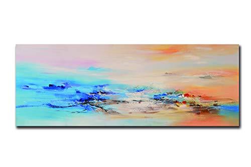 Fajerminart Cuadro En Lienzo - Nubes colores Cuadros Abstractos Impresiones Sobre Lienzo, Lienzos Decorativos Adecuado Para Cuadros Dormitorios, Cuadros Decoracion Salon Modernos 60x180cm(Sin Marco)