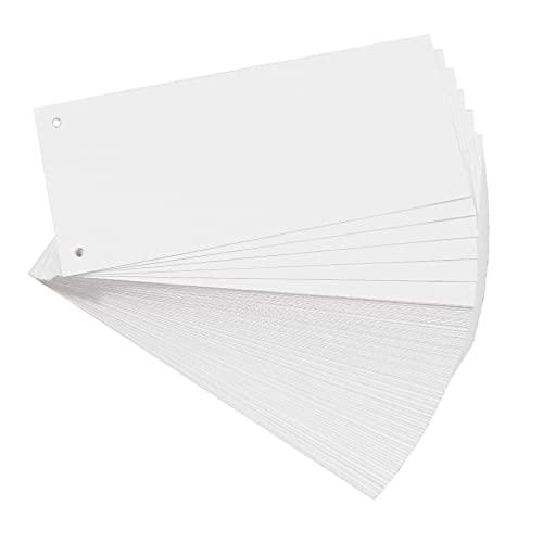 Exacompta 13305B 100er Pack Premium Karton-Trennstreifen. 10,5 x 24 cm weiß. Für eine übersichtliche Anblage Ihrer Dokumente. Trennlaschen Trennblätter Ordner Register