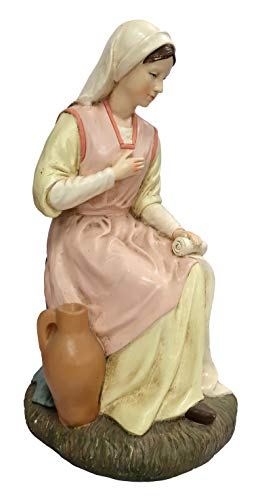 Ferrari & Arrighetti Statue presepe: Madonna Linea Martino Landi per presepio da cm 50