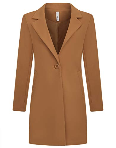 Zarlena Damen Mantel klassischer Female Trenchcoat Made in Italy Kamel S