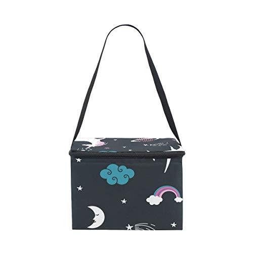 COOSUN Unicorns Bolsa de almuerzo térmica reutilizable con correa ajustable para el hombro para mujeres y hombres
