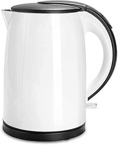 Stainless steel electric kettle, automatically shut down and quickly boil without BPA energy-saving power cord storage, 1.5L 1000-1500W white one color (Color : White, Size : One Size)