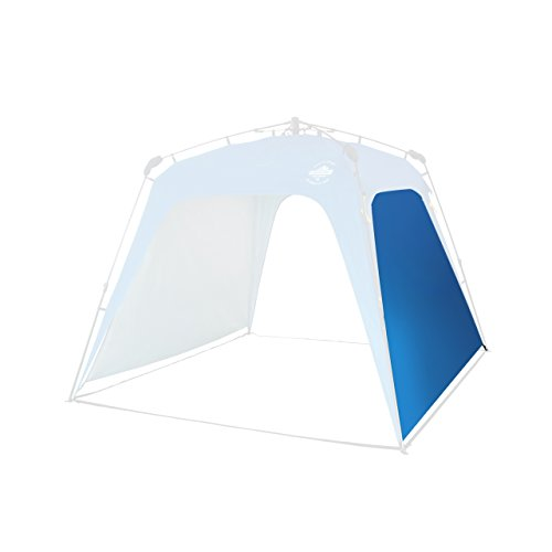 Lumaland Outdoor Seitenteil für Pop Up Pavillon Seitenwand für Gartenzelt Camping Partyzelt Zelt blau
