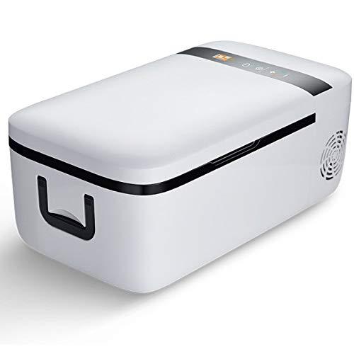SSLL Auto-compressor-koelbox met 12 liter inhoud, DC 12 V/24 V, mini-koelkast, voor bierkratten, warmhoudbox, campingkoeling, koelbox, draagbare thermo-verwarmingsbox voor auto Refrigering.