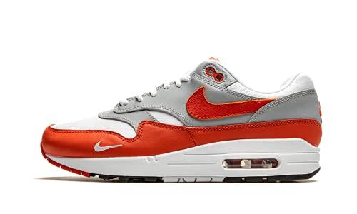 Nike AIR Max 1 LV8, Chaussure de Course Homme, White Martian Sunrise Wolf Grey Black, 44 EU