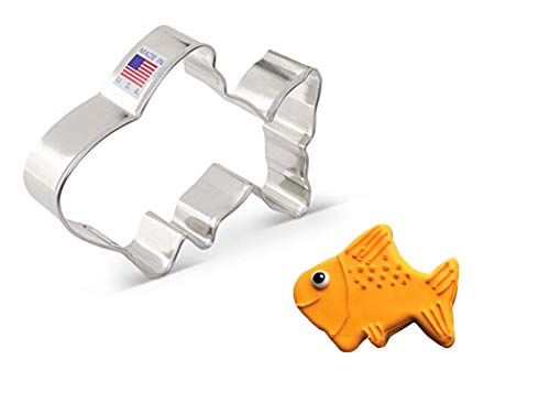 Ann Clark Cookie Cutters Niedliche/goldene Fisch-Ausstechform, 10,2 cm