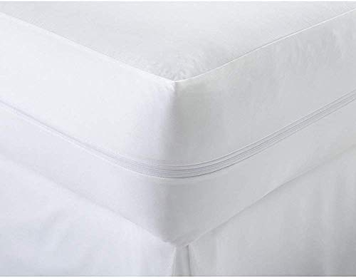 Anti Bug Bed Fully Zipper Encasement Anti Allergy Waterproof Mattress Protector in All Sizes (4-FT-40Cm Deep)