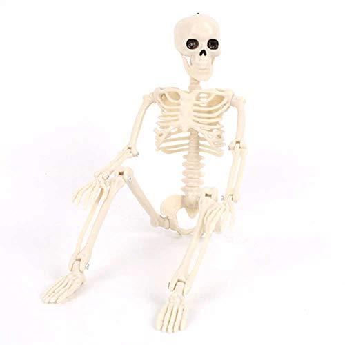 XHXseller Squelette de décoration dHalloween en forme de crâ