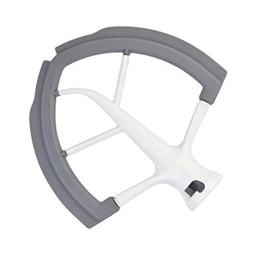 Batidor Flex Edge para batidora KitchenAid con soporte para cuencos, hoja plana de 6 cuartos de galón con bordes de silicona flexibles