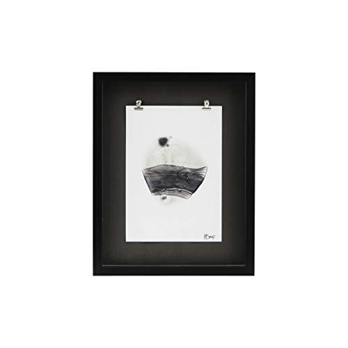 House Doctor 212241012, Illustration avec cadre, Seoan, Gris, Papier, plastique, MDF, métal, verre, 44 x 35 cm