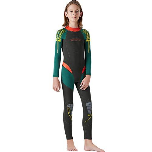 QWERDF I Bambini E La Gioventù Vigor 2,5 Millimetri di Neoprene Completa Suits Posteriore con Zip UV di Sun di Protezione Mute Termiche per Gli Sport Acquatici,A,M