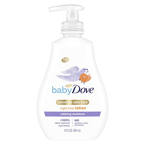 Baby Dove Sensitive Skin Care Baby Lotion For a Soothing Scented Lotion Calming Moisture Hypoallergenic and Dermatologist-Tested 13 oz