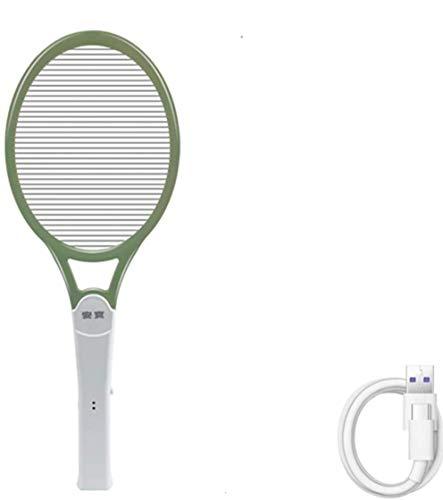 mkjia Elektrische Fliegenklatsche 1200mAh 4000V Effiziente Tötungsmücke Große Kakerlake Einschichtiges Netz Großflächige Sichere Mächtige Wespenwanzen im Schlafzimmer zu Hause