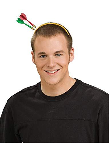 Haarreif mit Dart-Pfeilen im Kopf als Halloween Kopfschmuck & Partygag