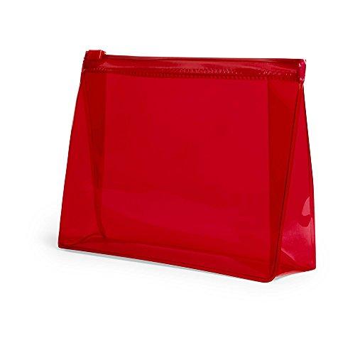 eBuyGB Trousse de Toilette de Voyage en PVC, Plastique, Rouge, Pack of 1