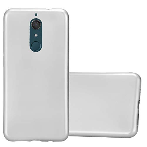 Cadorabo Hülle für WIKO View XL in METALLIC Silber - Handyhülle aus flexiblem TPU Silikon - Silikonhülle Schutzhülle Ultra Slim Soft Back Cover Hülle Bumper