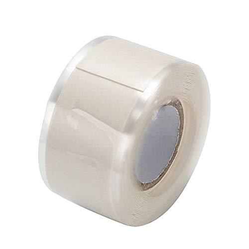Isolierband, Silikonreparatur-Dichtungsband, wasserdichtes selbstschmelzendes Rohrreparaturband (2,5 cm x 3 m, 1 Stück, weiß)