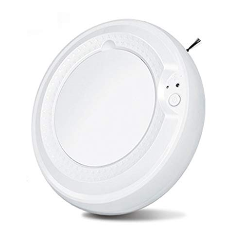 Best Buy! LAHappy Robot Vacuum Cleaner-90 Min Automatic Run Time-Robotic Auto Home Clean Carpet and Hardwood Floor Dry Mopping,USB -Charging,White