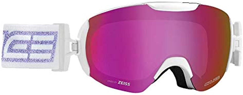 Salice 604SONAR Skibrille SR wei lila Unisex Erwachsene Einheitsgre