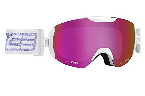 Salice 604DARWF skibril SR Unisex volwassenen, wit/paars, eenheidsmaat